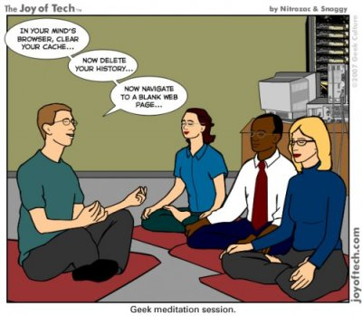 geek meditation session