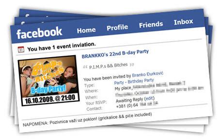 Facebook pozivnice za rodjendan