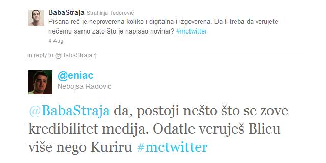 kredibilitet medija Novinarstvo, novinari i Twitter