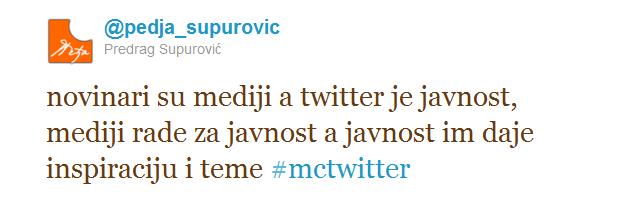 novinari su mediji a tviter je javnost Novinarstvo, novinari i Twitter