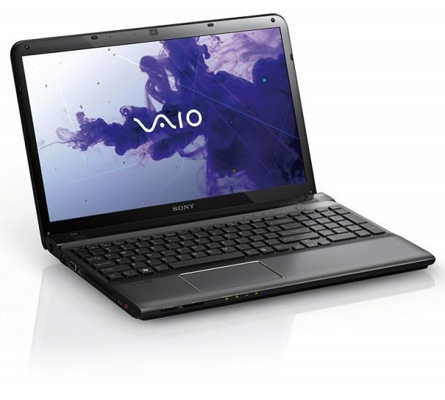 sony vaio e 15 crni 640x575 Sony VAIO E Series   laptop koji svetli u mraku
