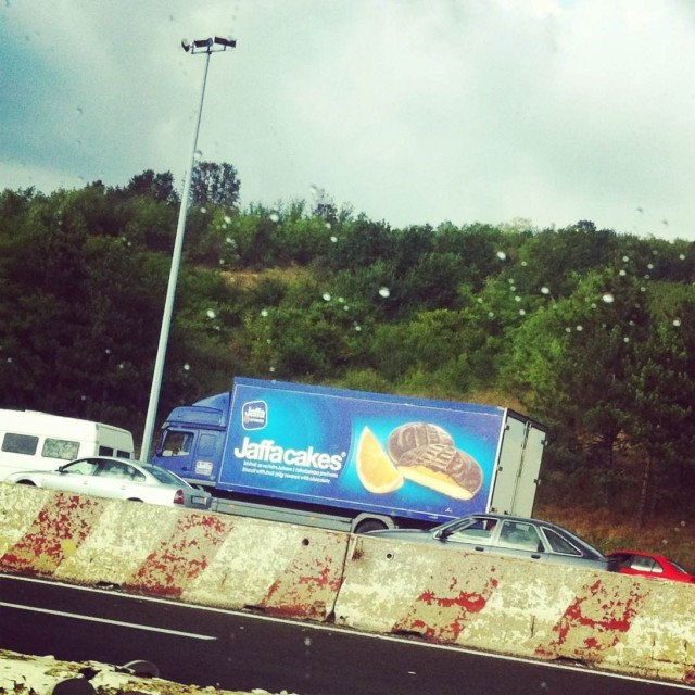 Jaffa cakes kamion