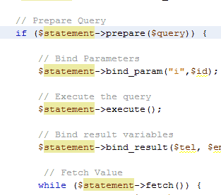 MySQLi Prepared Statements